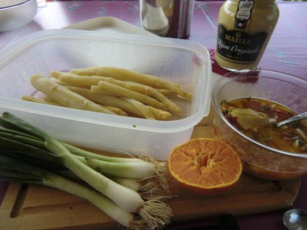 Spargelsalat mit Orangensaft und Eier Vinaigrette - Rezept - Bild Nr. 2