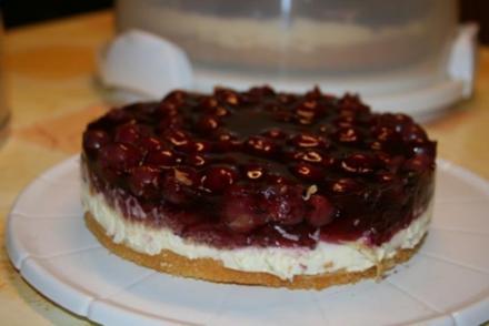 Vanillecreme Kirsch Kuchen - Rezept
