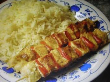Fleischspieß mit Paprika - Rezept