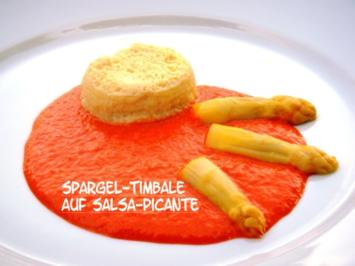 Spargel-Timbale auf Salsa-Picante - Rezept