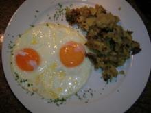 Dampfkartoffeln mit Spiegelei und Salat (ein uraltes Rheinisches Rezept zu Gründonnerstag) - Rezept