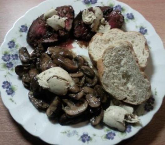 Rinderfilet mit Pilzen und Trüffelbutter - Rezept - Bild Nr. 2