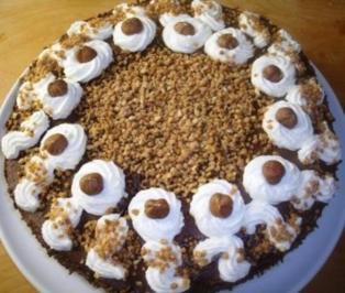 Schoko- Nussnougatcreme-Torte - Rezept