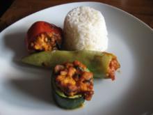 Gefülltes Gemüse mit Putengulasch - Rezept