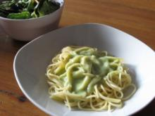 Spaghetti mit Bärlauchcrémesoße - Rezept