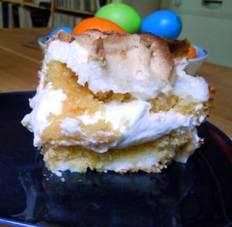 Zitronen-Baiser-Torte - Rezept