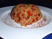 Gemüse-Würstchen-Reis-Pfanne - Rezept