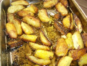 Kartoffelspalten vom offenen Feuer - Rezept
