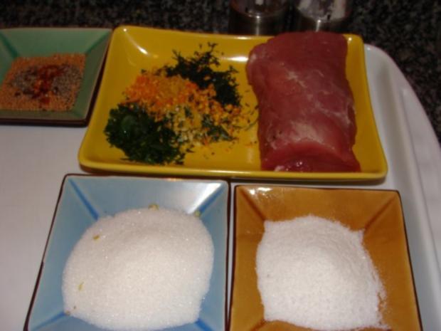 Fleisch : - Gebeiztes Schweinefilet od. Kalbsfilet - - Rezept - Bild Nr. 4