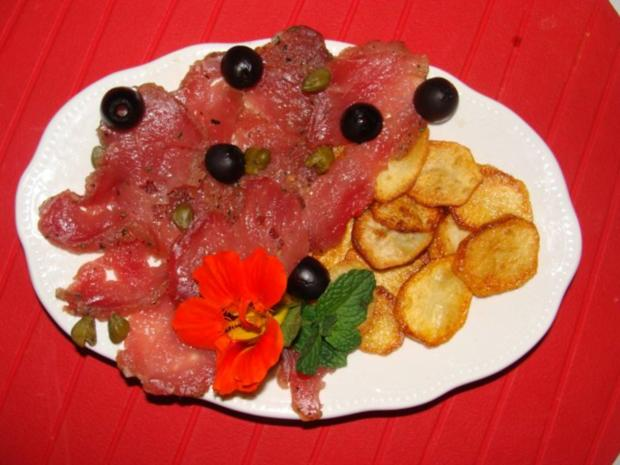 Fleisch : - Gebeiztes Schweinefilet od. Kalbsfilet - - Rezept