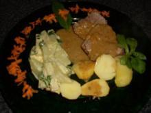 Lammkeule, Kohlrabi mit Bärlauch... - Rezept