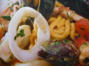 Linguine mit Meeresfrüchten - Rezept