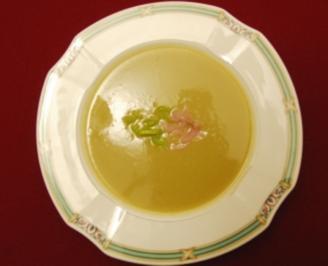 Lauchcremesuppe mit Lachsstreifen (Kristina Sprenger) - Rezept