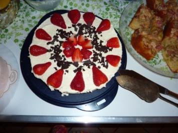 Torten: Philadelphiatorte mit Erdbeeren - Rezept