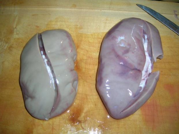 Saure Nierchen - unsere Art - mit Kartoffelpüree - Rezept - Bild Nr. 3