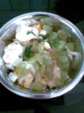 Eiersalat mit Trauben - Rezept - Bild Nr. 3