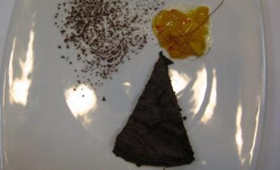 Schokocake New York mit Mango-Chiliragout - Rezept