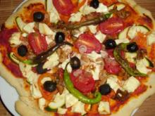 Pizza: Pizza i elliniki - Rezept