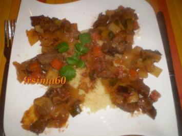 Kalbsragout mit Gemüse und Couscous - Rezept