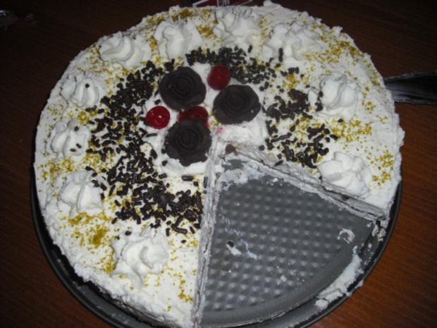 Sahne-Baiser Torte - Rezept