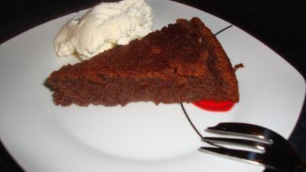 Schokoladen Mandel Torte - Rezept