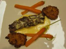 Filetzopf aus Rind- und Lammfilet mit Berner Rösti und Bio-Möhrchen - Rezept