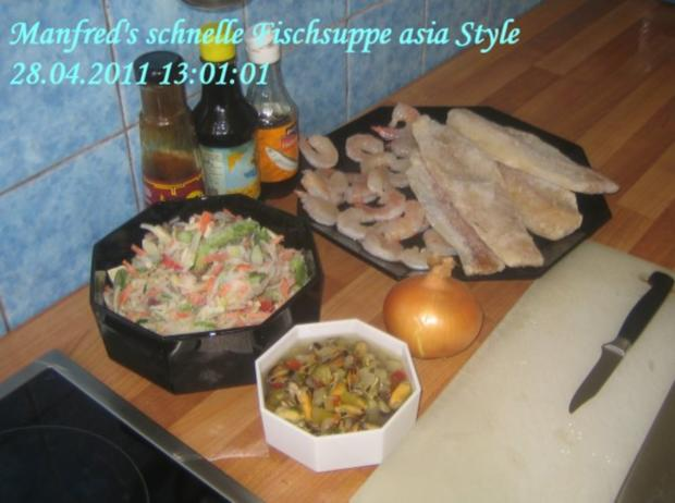 Suppen – Manfred's superschnelle Fischsuppe Asia Style - Rezept
