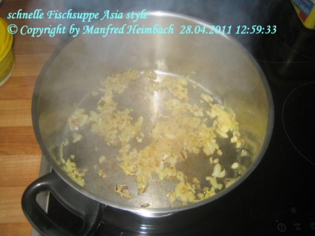 Suppen – Manfred's superschnelle Fischsuppe Asia Style - Rezept - Bild Nr. 2