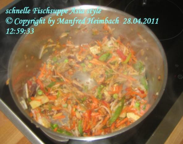 Suppen – Manfred's superschnelle Fischsuppe Asia Style - Rezept - Bild Nr. 3