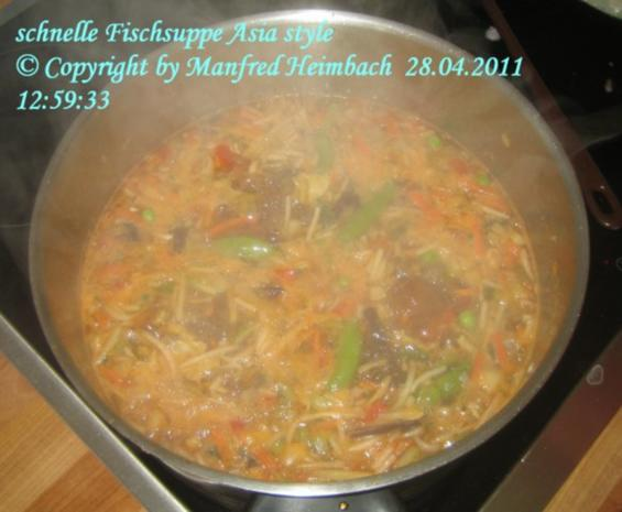Suppen – Manfred's superschnelle Fischsuppe Asia Style - Rezept - Bild Nr. 4