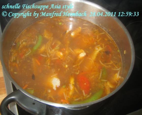 Suppen – Manfred's superschnelle Fischsuppe Asia Style - Rezept - Bild Nr. 5