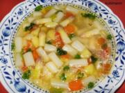 Hühnerbrühe mit frischem Spargel - Rezept