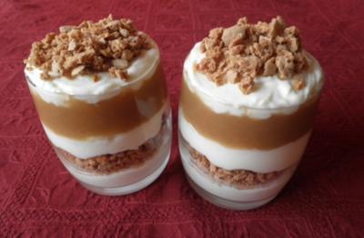 Rezept: Mascarpone - Apfel - Amaretti - Dessert