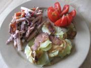 Wurstsalat mit krossen Bratkartoffeln... - Rezept