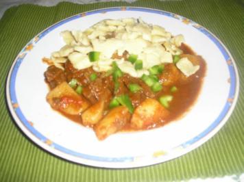 Rezept: Ungarisches Gulya's (Kesselgulasch, Bograczgulya's)