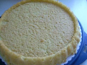 Biskuit - Tortenboden - Rezept