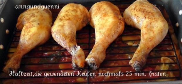 Hähnchenkeulen auf doppelten Boden - Rezept - Bild Nr. 9