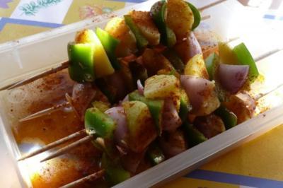 Grillen: Kartoffelspieße gegrillt - Rezept