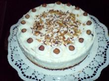Kuchen -  Sahne-Nuß Torte - Rezept