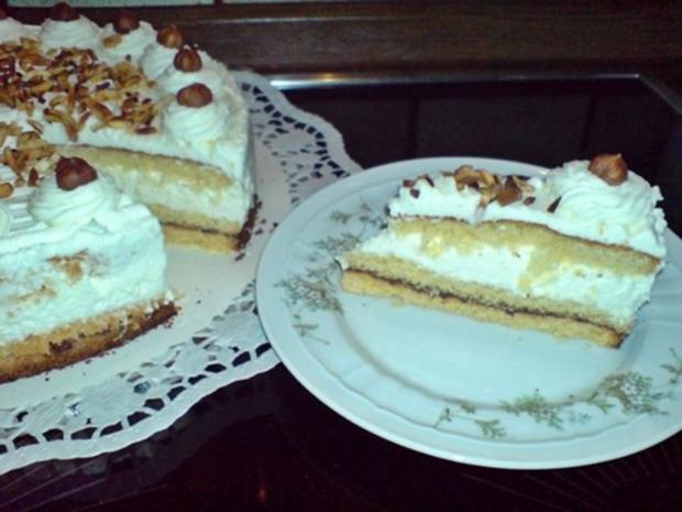Kuchen -  Sahne-Nuß Torte - Rezept - Bild Nr. 6