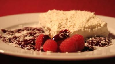 Rezept: Schneeflöckchen Weißröckchen - Zwieback, Sahne, Pudding