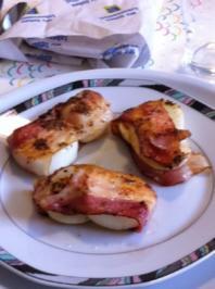Eier in der Baconfalle - Rezept