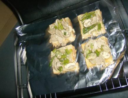 Schweinefilet Spargel Toast - Rezept