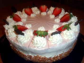 Rezept: Torte: Erdbeer-Joghurt-Torte