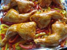Paprikahähnchen mit Ofenkartoffeln - Rezept