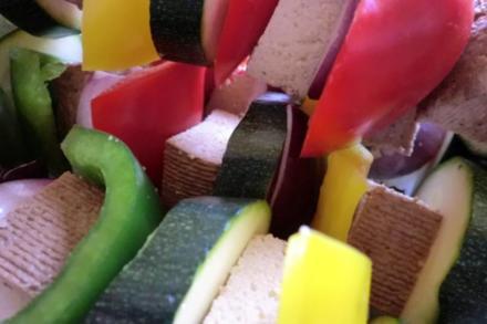 Vegetarische Gemüse-Grill-Spieße - Rezept