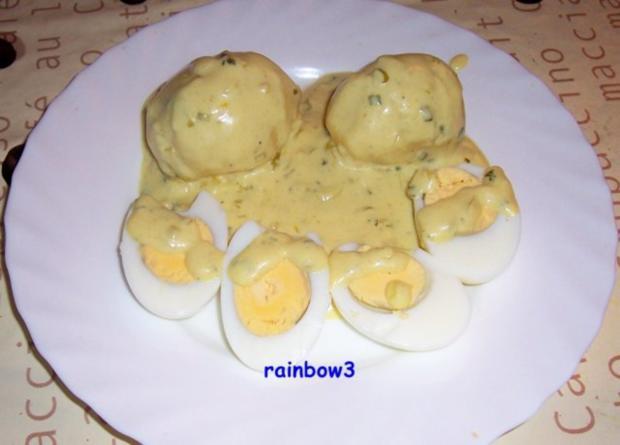 Kochen: Eier in Senf-Kräuter-Sauce - Rezept