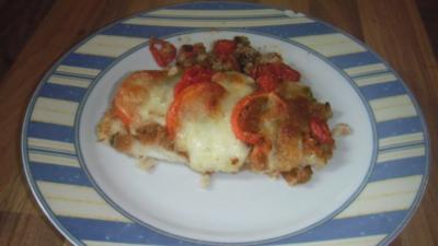 Schollenfilet mit Tomate und Mozzarella - Rezept