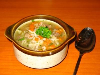 Reissuppe - mal nicht indisch - Rezept