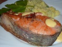 Fisch: Lachsforellensteak gebraten - Rezept